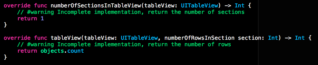 UITableView Data Model Implementation