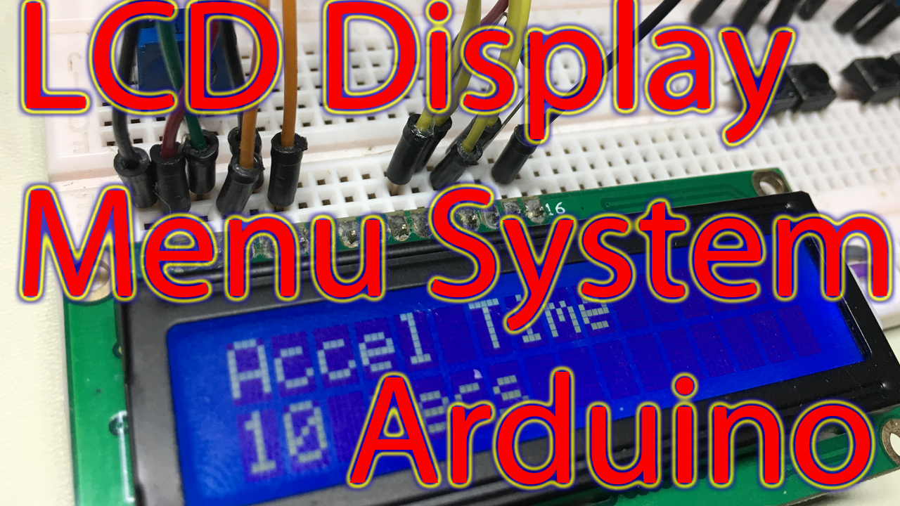 Arduino lcd tutorial display menu system scrolling