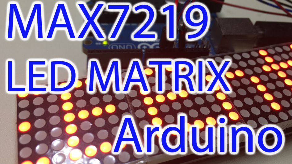 arduino max7219 scrolling text code
