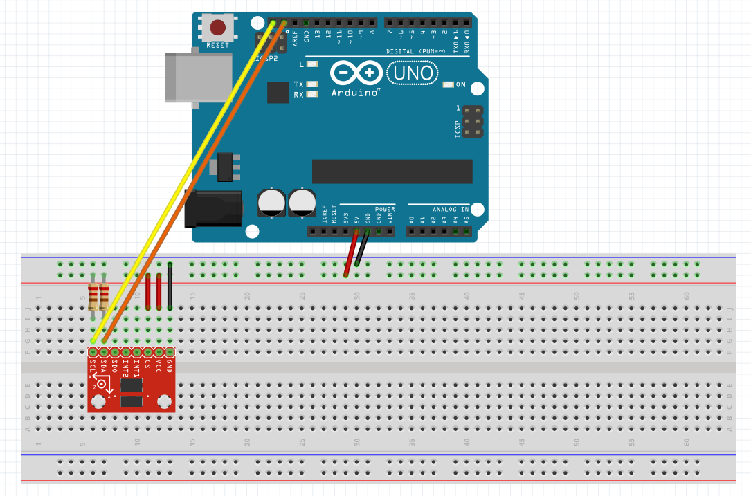 Arduino 13 3 axis accelerometer adxl 345 i2c robots arduino i2c asfbconference2016 Image collections