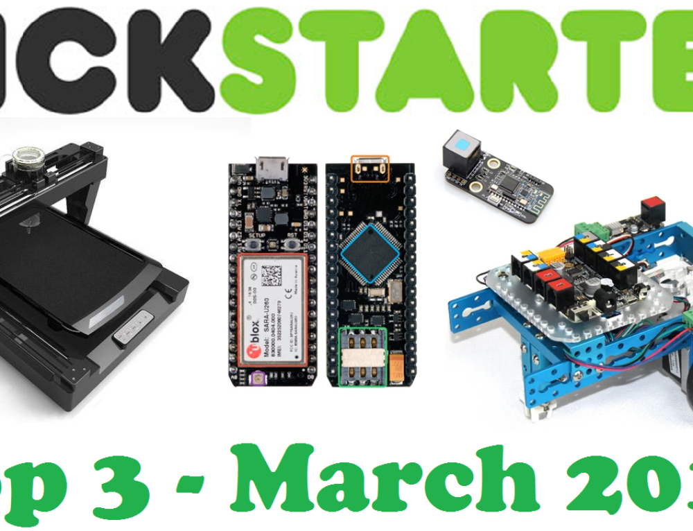 Kickstarter Projects Top 3 March 2015 – PancakeBot, Spark Electron, mDrawBot